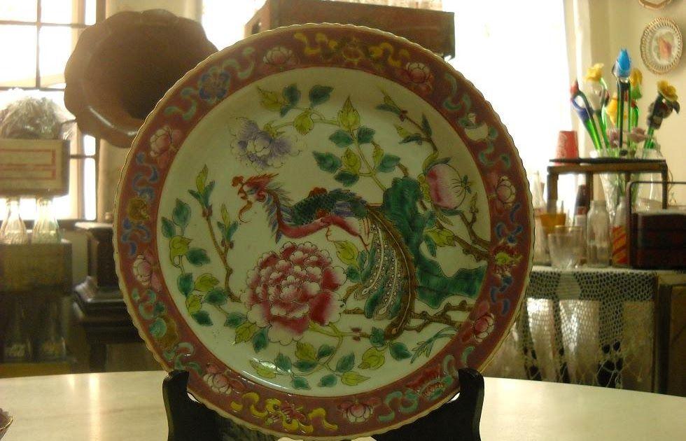 Nyonya Ware Ching Dynasty Plate Porcellana