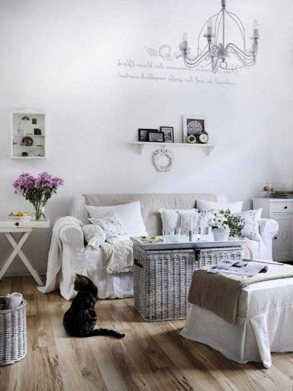 White Shabby Chic Living Room Part 37