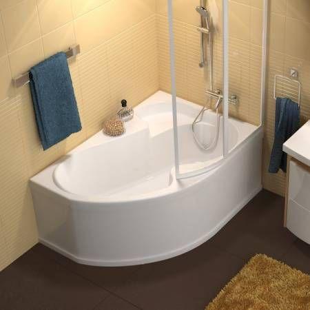 baignoire douche asymétrique rosa   salle de bain   pinterest
