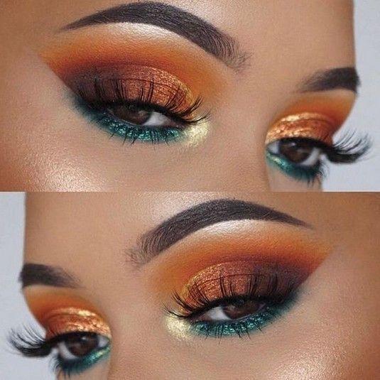 43 Coucher de soleil sexy? Idée de maquillage des yeux pour le bal et le mariage? – Sunset Eye Make – Galena U.