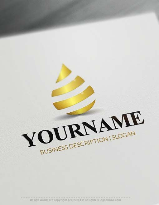 Free Logo Maker Nature Oil Water Drop Logo Design Drop Logo Water Drop Logo Free Logo