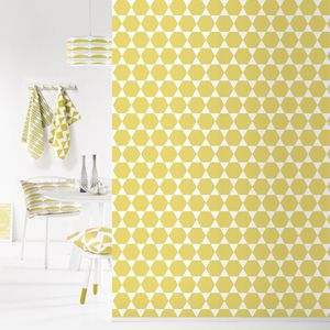 papier peint motif g om tique jaune 4 l s stars. Black Bedroom Furniture Sets. Home Design Ideas