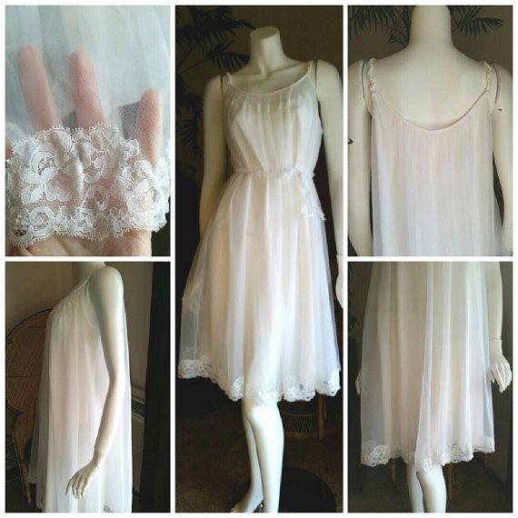 06653928987 1950 s Shadowline Bridal Nightgown