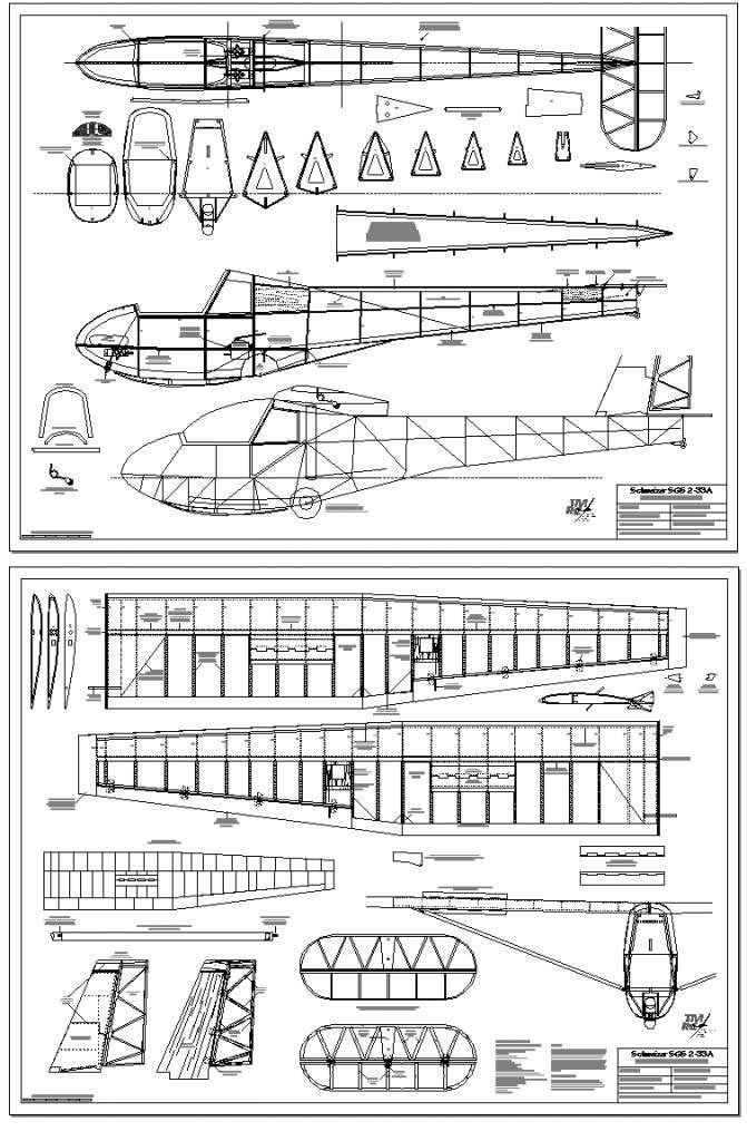 Schweizer 2 33 Air Cadets Model Airplanes Rc Model
