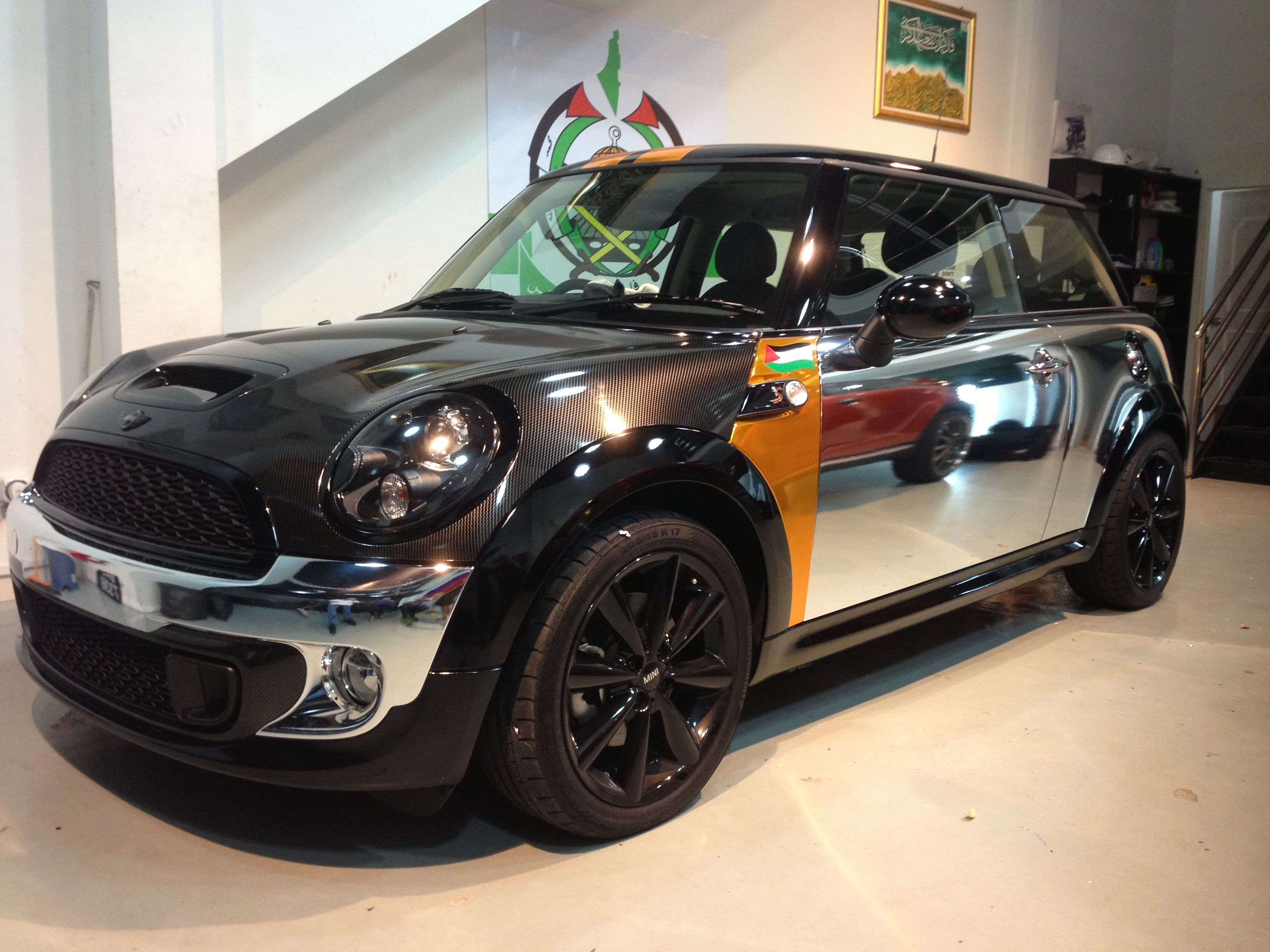 Love the idea of wrapping my mini in chrome vinyl and just putting my logo and
