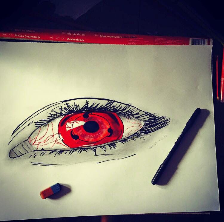 Sharingan eye ️ #my #drawing #mydrawing #naruto #sasuke # ...