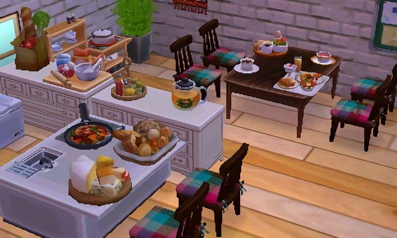 Primrose Kitchen ACNL Beautiful Kitchen | // animal ... on Animal Crossing Kitchen Island  id=39249