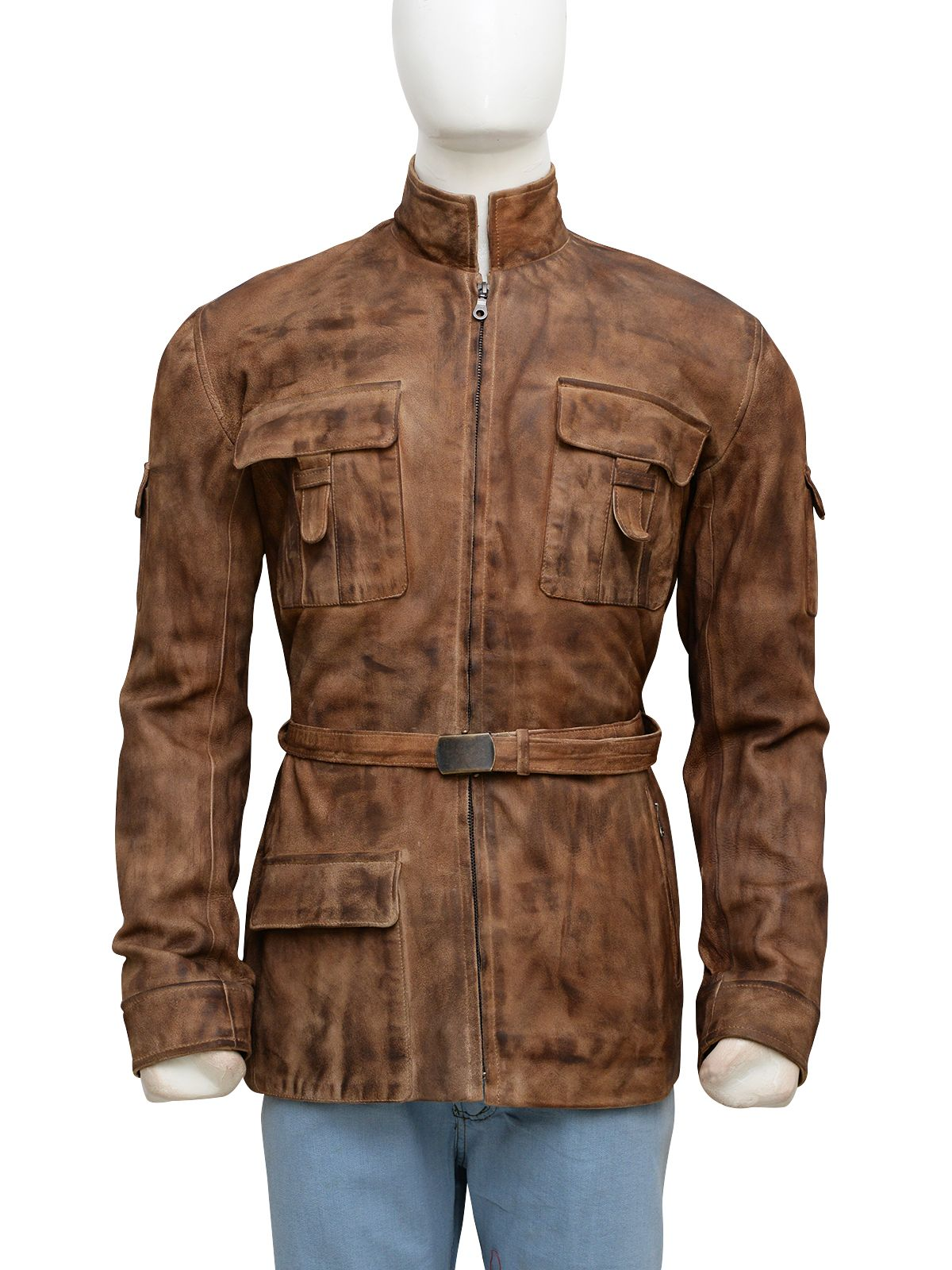 a42804b1217 The Mark Hamill Star Wars Leather Jacket is Nice Smoky Brown Clothing  Available Here.