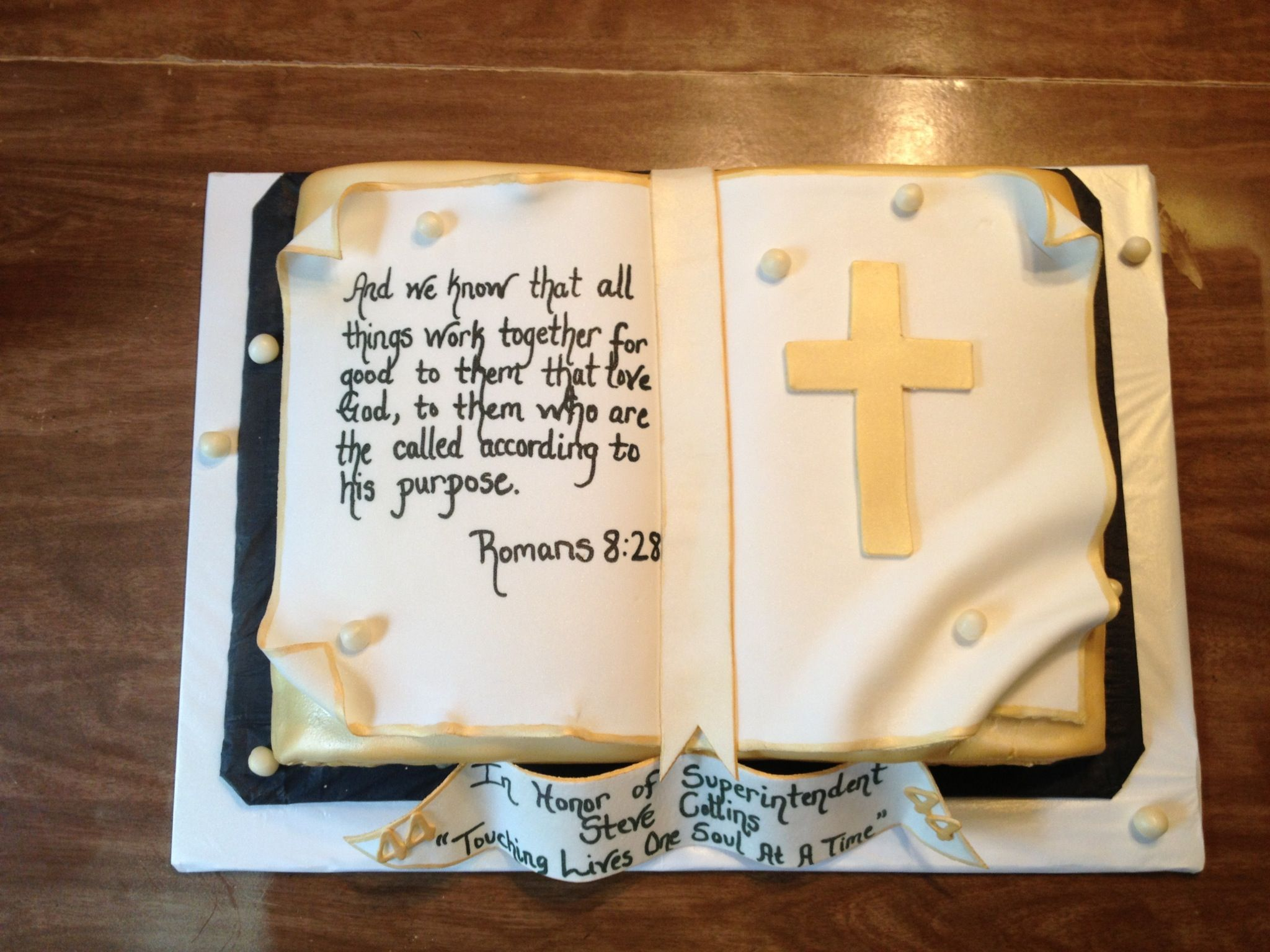 Made for Superintendent Steve Collins for his Pastor Anniversary