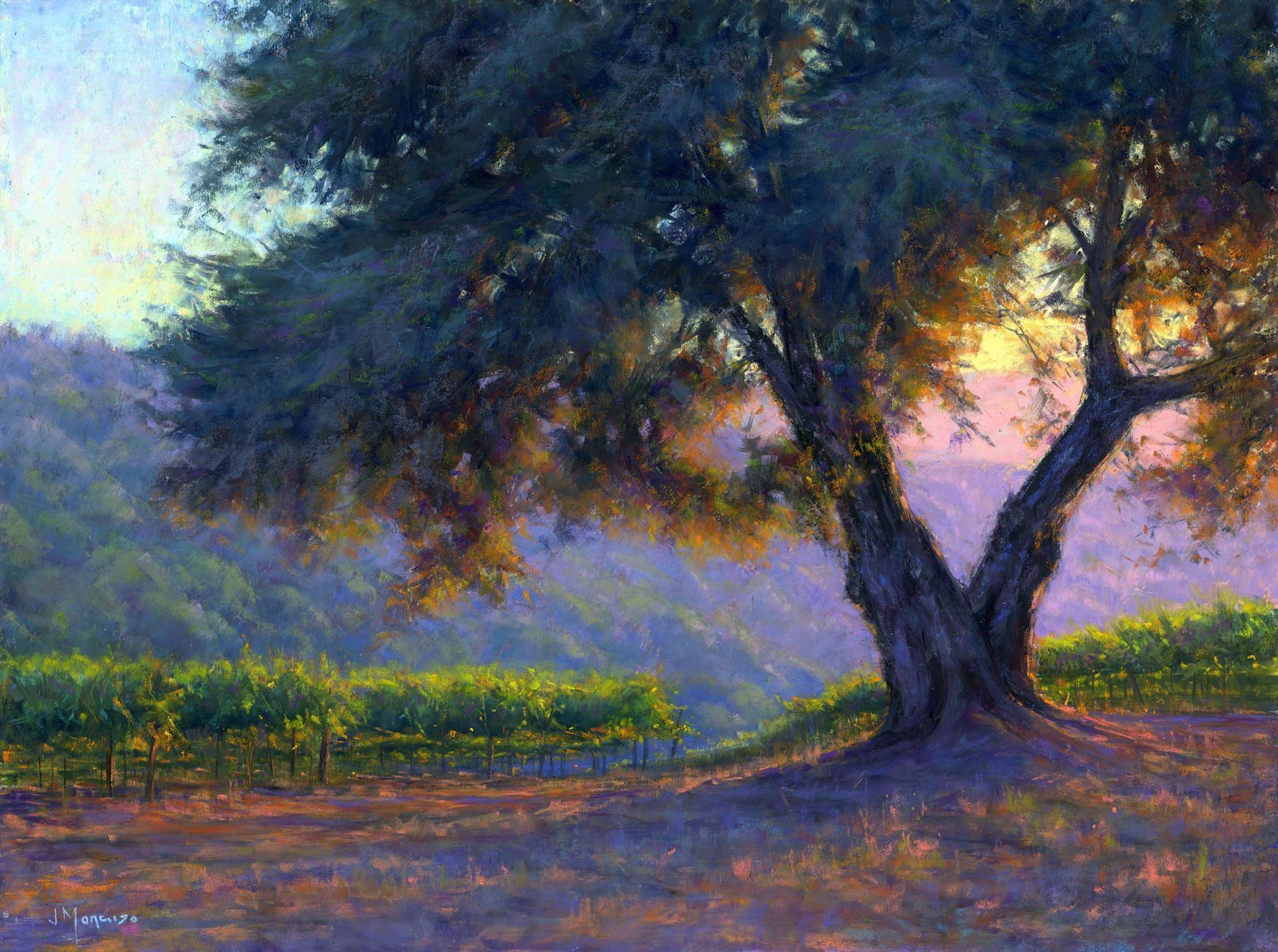 Golden state sunshine landscape paintings pastel