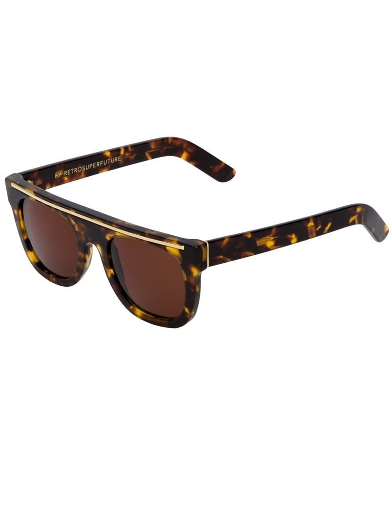 df9b1b6c27 RETRO SUPER FUTURE Ciccio Flat Top Chicano sunglasses on Vein - getvein.com