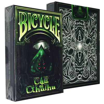 Call Of Cthulhu Bicycle Playing Cards Green Limited Edition Playing Cards Art Cool Playing Cards Playing Card Deck