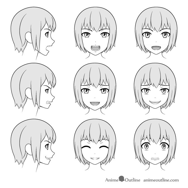 How To Draw Anime Manga Teeth Tutorial Animeoutline Anime Memy Citaty