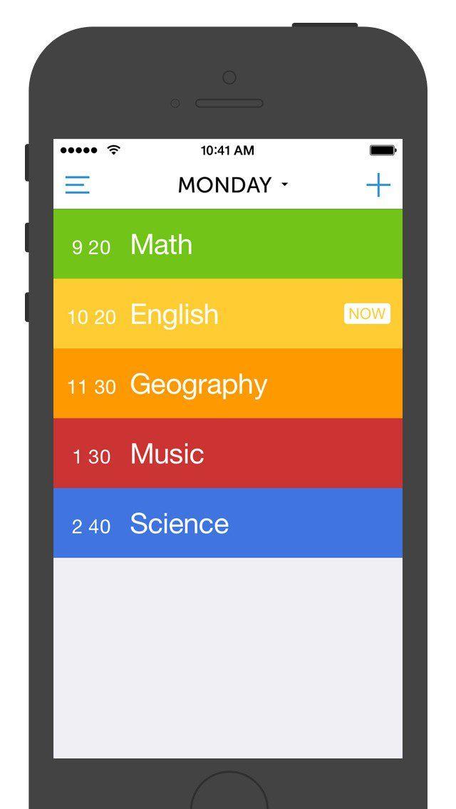 Class Timetable iOS App iOS Apps Pinterest iOS App - class timetable