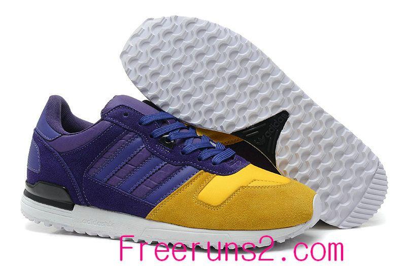 Shop Half off Adidas Originals ZX700 Blast Purple Ray Yellow G96523 Cheap  Adidas Shoes