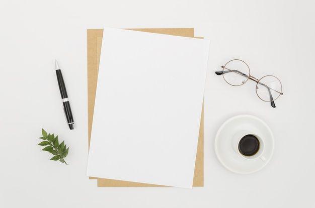 Flat Lay Paper Mockup On Workspace Paper Mockup Mockup Mockup Design