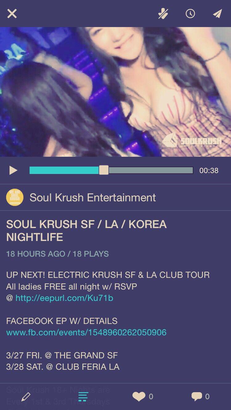 New #SoulKrush Recap Video @ www.soulkrush.com // 이번주말 소크 샌프란 엘에이 클럽투어 3/27 FRI. @ THE GRAND SF 3/28 SAT. @ CLUB FERIA LA   #SoulKrush #SF #LA #Nightlife #Clubbing #Club #Tour #Korean #Asian #mixed #Nights #Electric #Krush #유학생 #파티 #일랙 #샌프란시스코 #엘에이 #소크