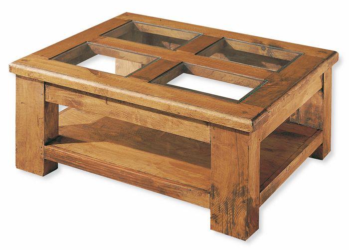 Mesa De Centro Rustica Con Cristales Individuales Muebles Mejicanos De Salon Mesa De Centro Madera Mesas Ratonas De Madera Centros De Mesa Vidrio