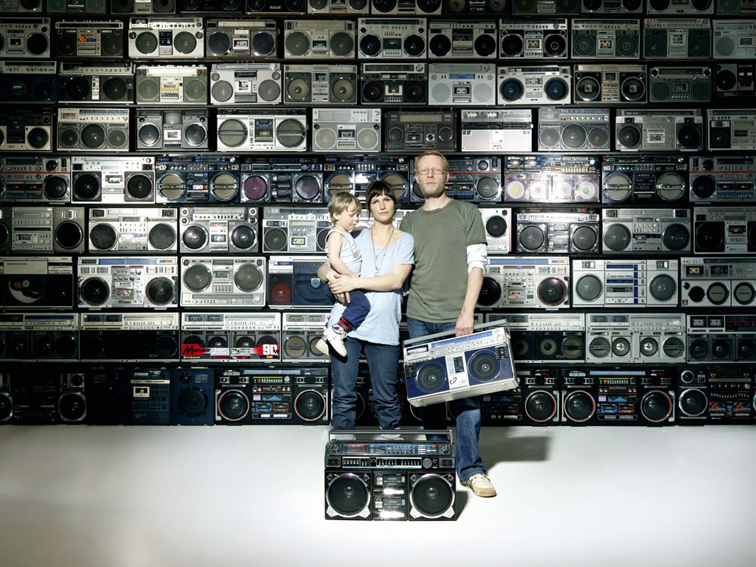 A family and their boombox wall (x-post /r/CoolCollections) [1067 x 800]