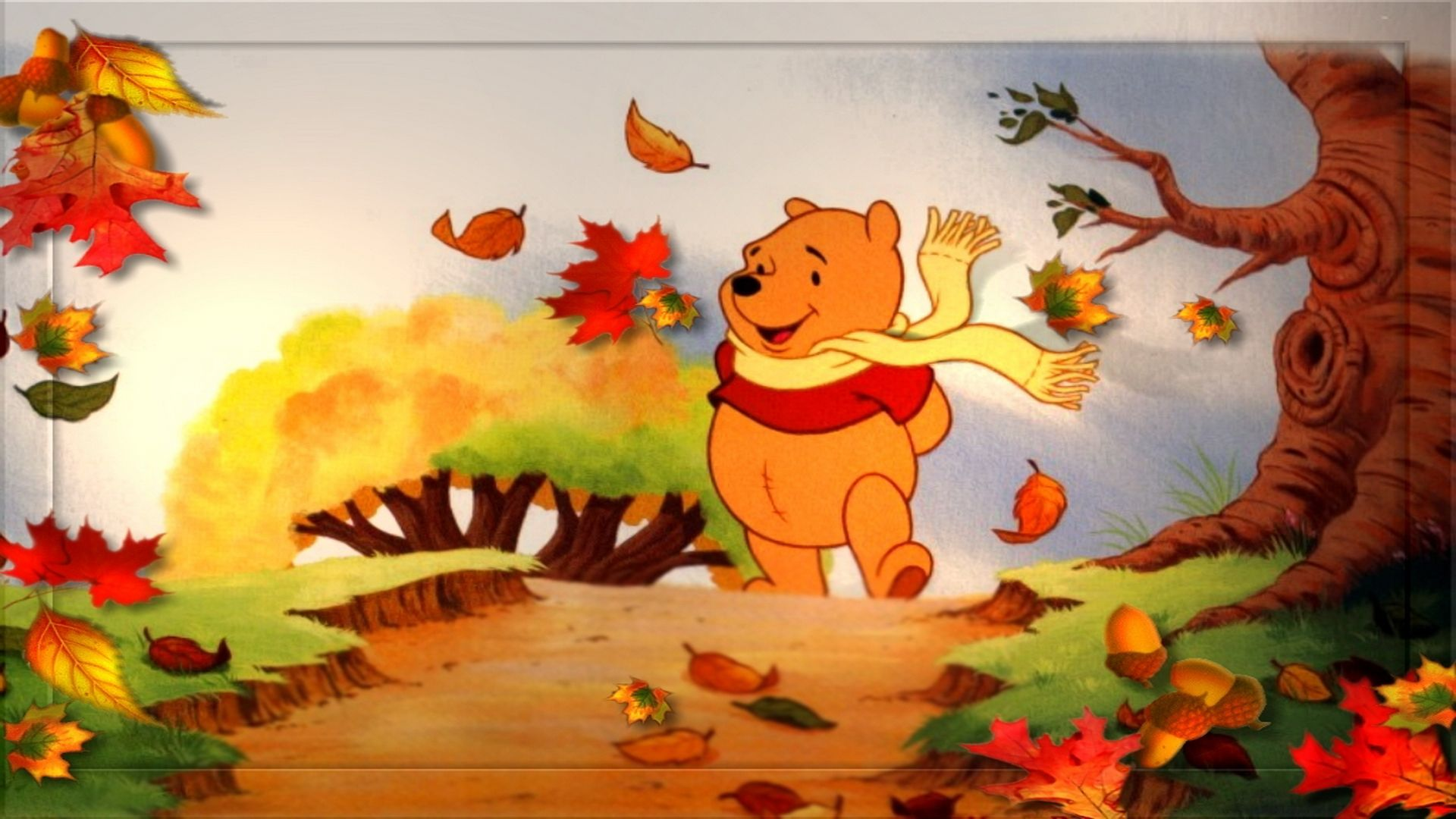Happy Thanksgiving Disney Wallpaper Images Disney Thanksgiving Thanksgiving Wallpaper Winnie The Pooh Cartoon