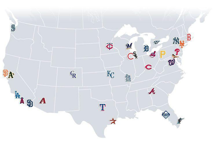 Best Mlb Stadiums Ideas On Pinterest Baseball Park Baseball - Us baseball map