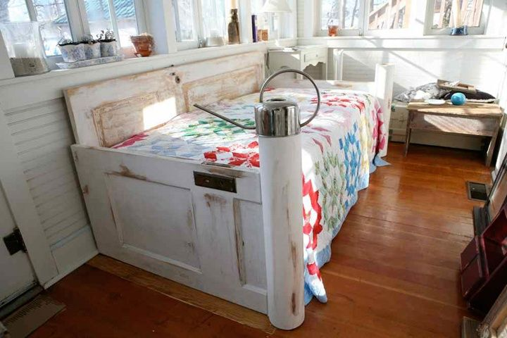 Old Door Day Bed Daybed Made Of Salvaged Wooden Doors