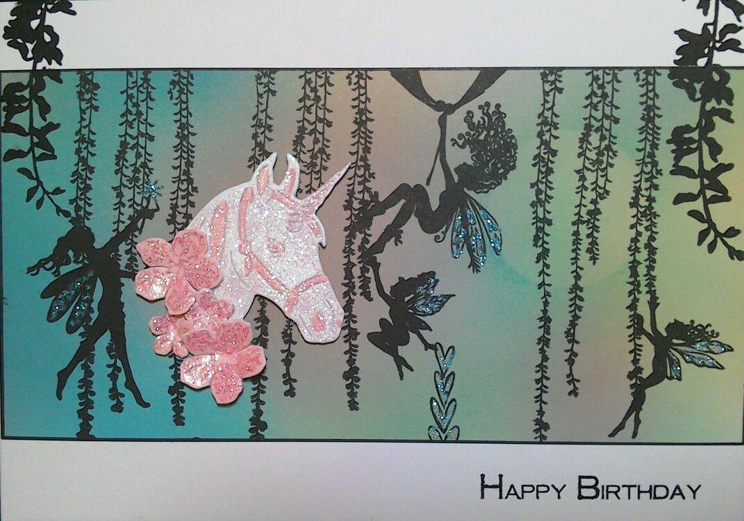 Unicorn, fairies & lots of glitter on my granddaughter's