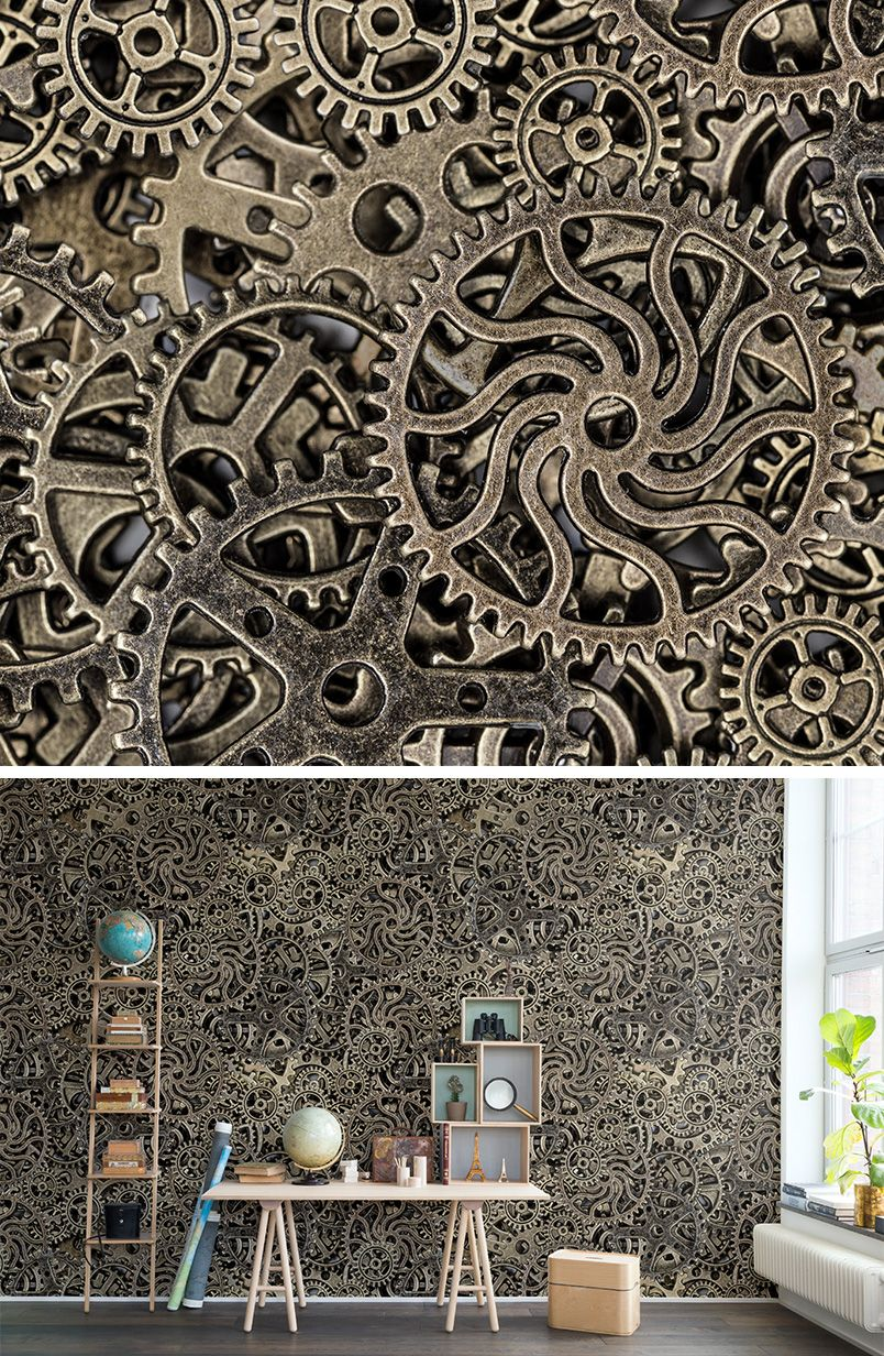 WALL MURAL | WALLPAPER | METAL | DISCOVER | CURIOUS | EXPLORE | EXPLORER |  TORN