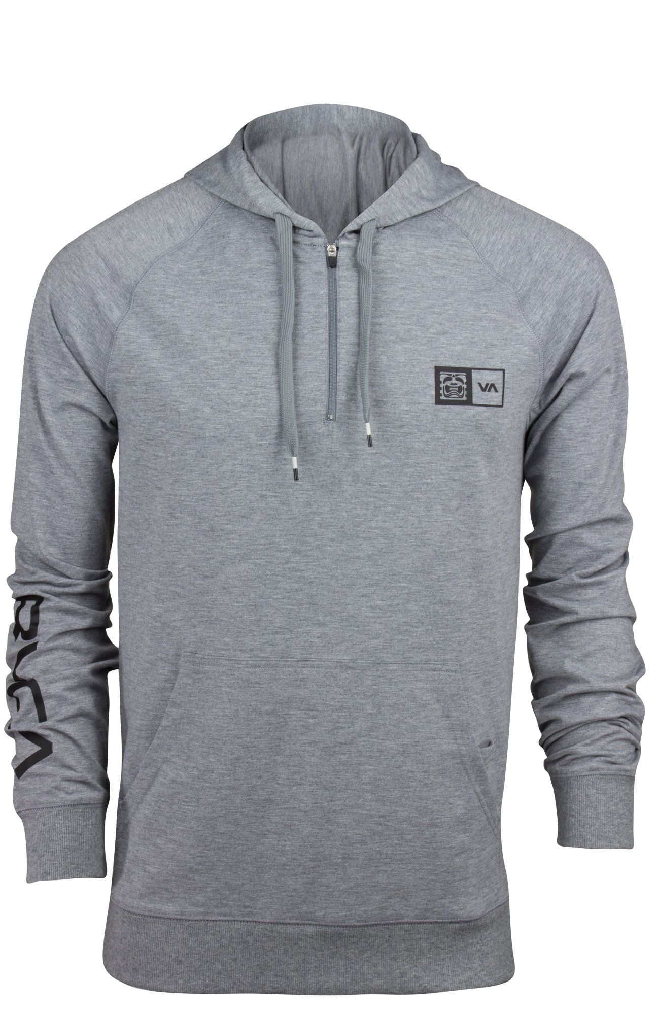 b44f0862ba66 RVCA VA Sport BJ Penn Hoodie (Athletic Heather Gray)