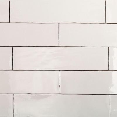 Splashback Tile Catalina White 3 In X 12 8 Mm Ceramic Floor
