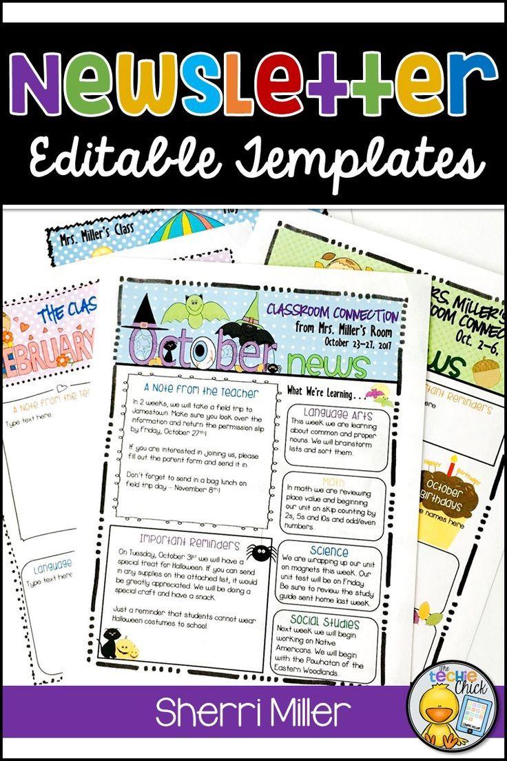 44 seasonal themed newsletter templates newsletter templates teacher and teacher pay teachers