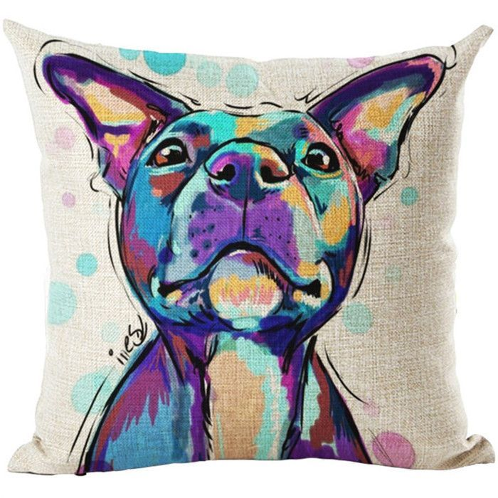 Cartoon Dog Cushion Customized Throw Pillow Home