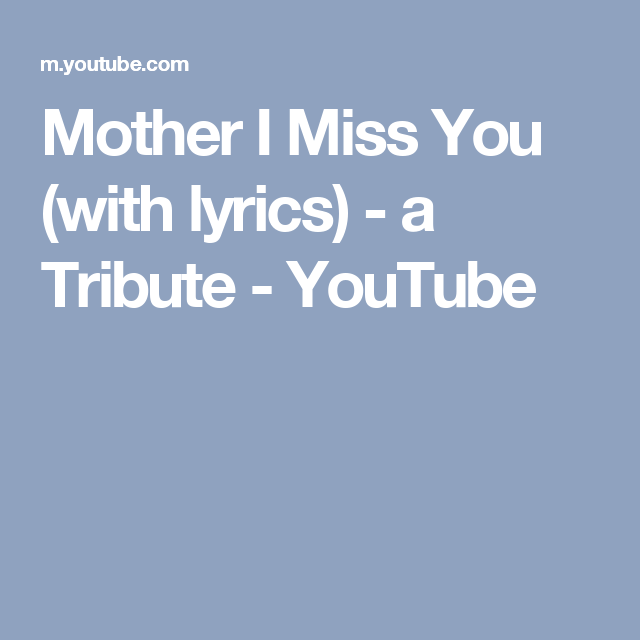 song with lyrics i miss you