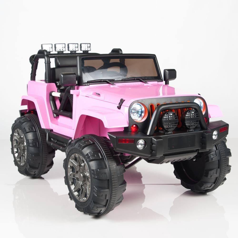 Kids 12v Jeep Ride On Style Car Power Pink Parental R C Remote Control Kids Jeep Power Wheels Jeep