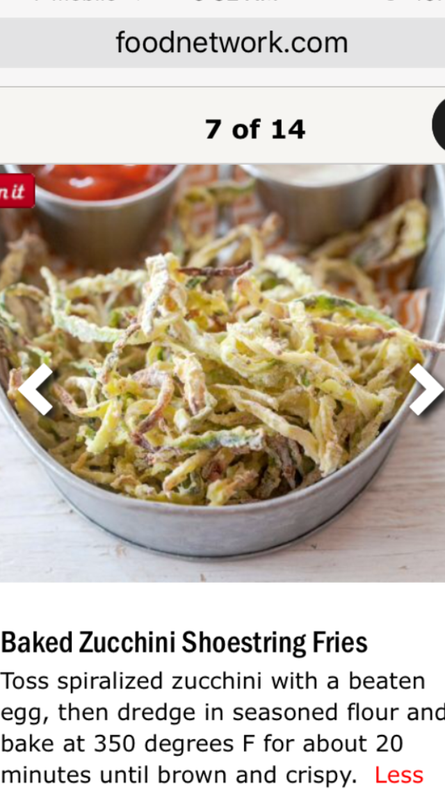 Baked Zucchini Shoestring Fries Food Network Recipes To Try In