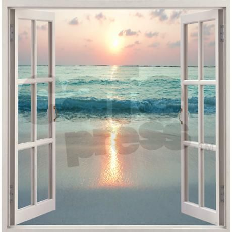 Beach Window Shower Curtains From Store Compliment Your Bathroom Decor Or Give