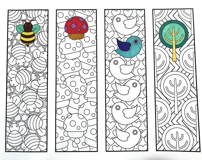 Sweets 2 Bookmarks Pdf Zentangle Coloring Page Etsy Boyama