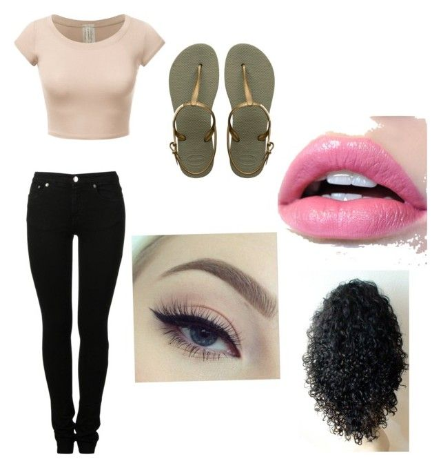 """""""Leanna's outfit"""" by amishelrod on Polyvore featuring MM6 Maison Margiela and Havaianas"""