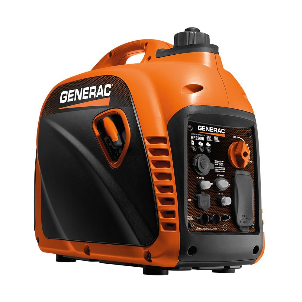 Generac GP2200i - 2200-Watt Gasoline Powered Recoil Started Residential Portable Inverter Generator-7117 - The Home Depot