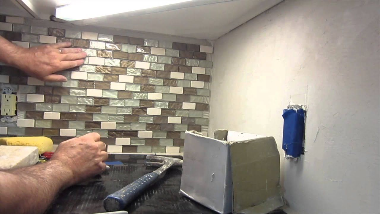 Granit Küchenrückwand How To Install A Glass Mosaic Tile Backsplash Parts 1 2 And 3