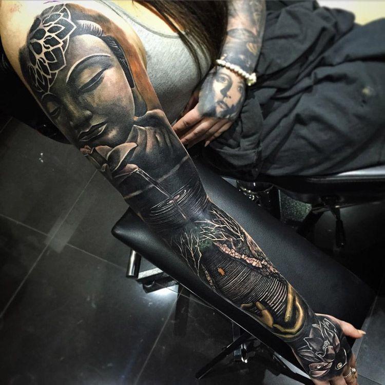 Buddha sleeve sleeve tattoos pinterest buddha lotus buddha sleeve mightylinksfo