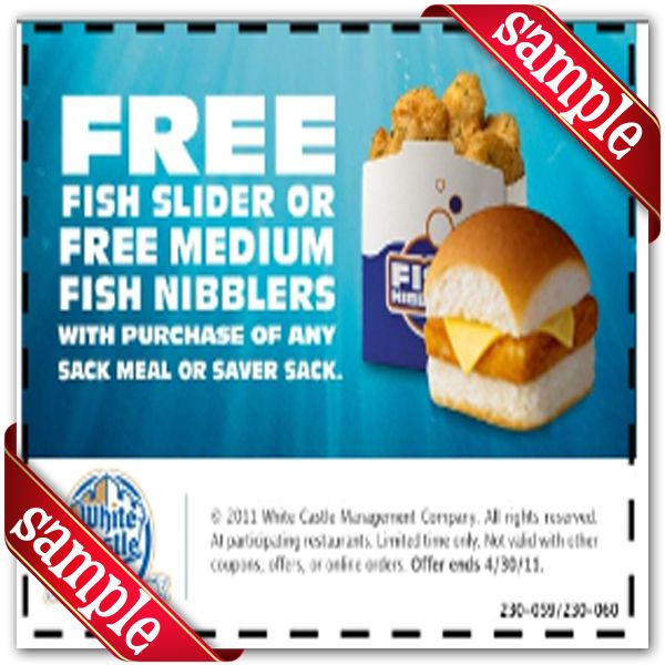 photograph about White Castle Printable Coupons known as White Castle Printable Coupon December 2016 Discount codes for