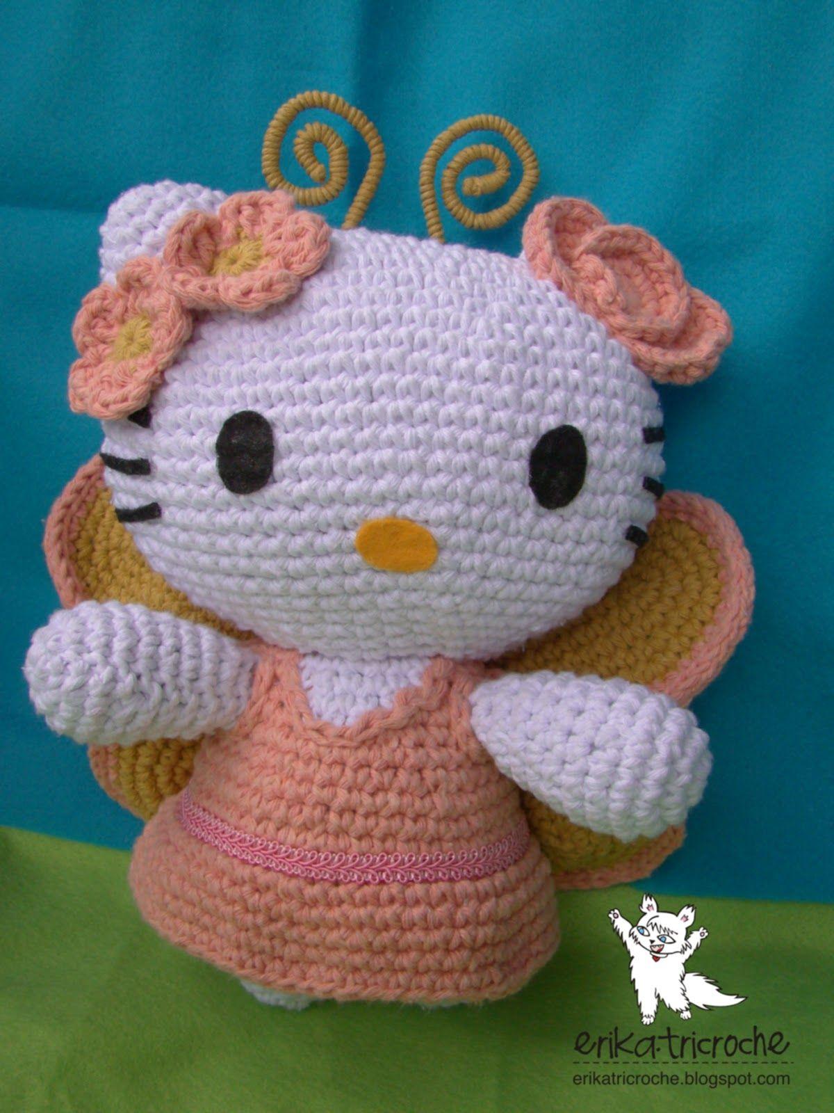 erika.tricroche: Hello kitty butterfly | Crochet Inspiration (Items ...