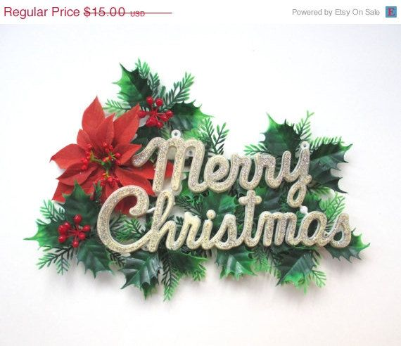 SALE Plastic Christmas Decoration Retro by TheVintageResource - christmas decorations sale
