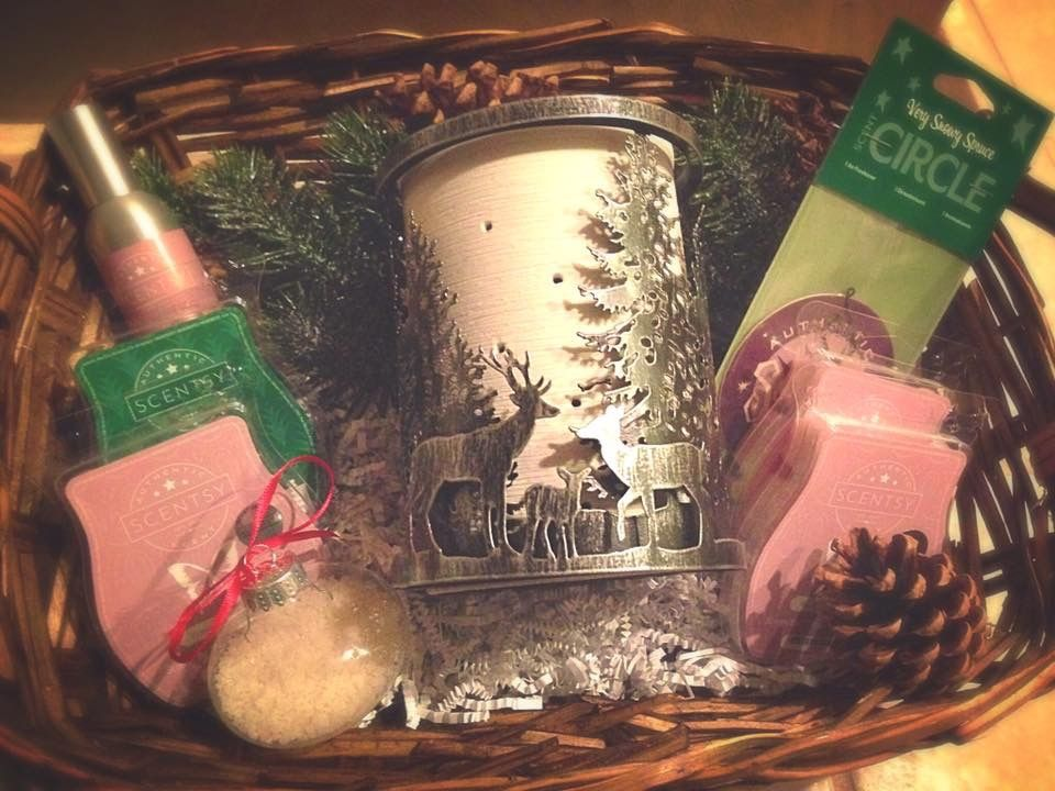 SCENTSY CHRISTMAS GIFT BASKETS!!! Name your price, warmer, scent ...