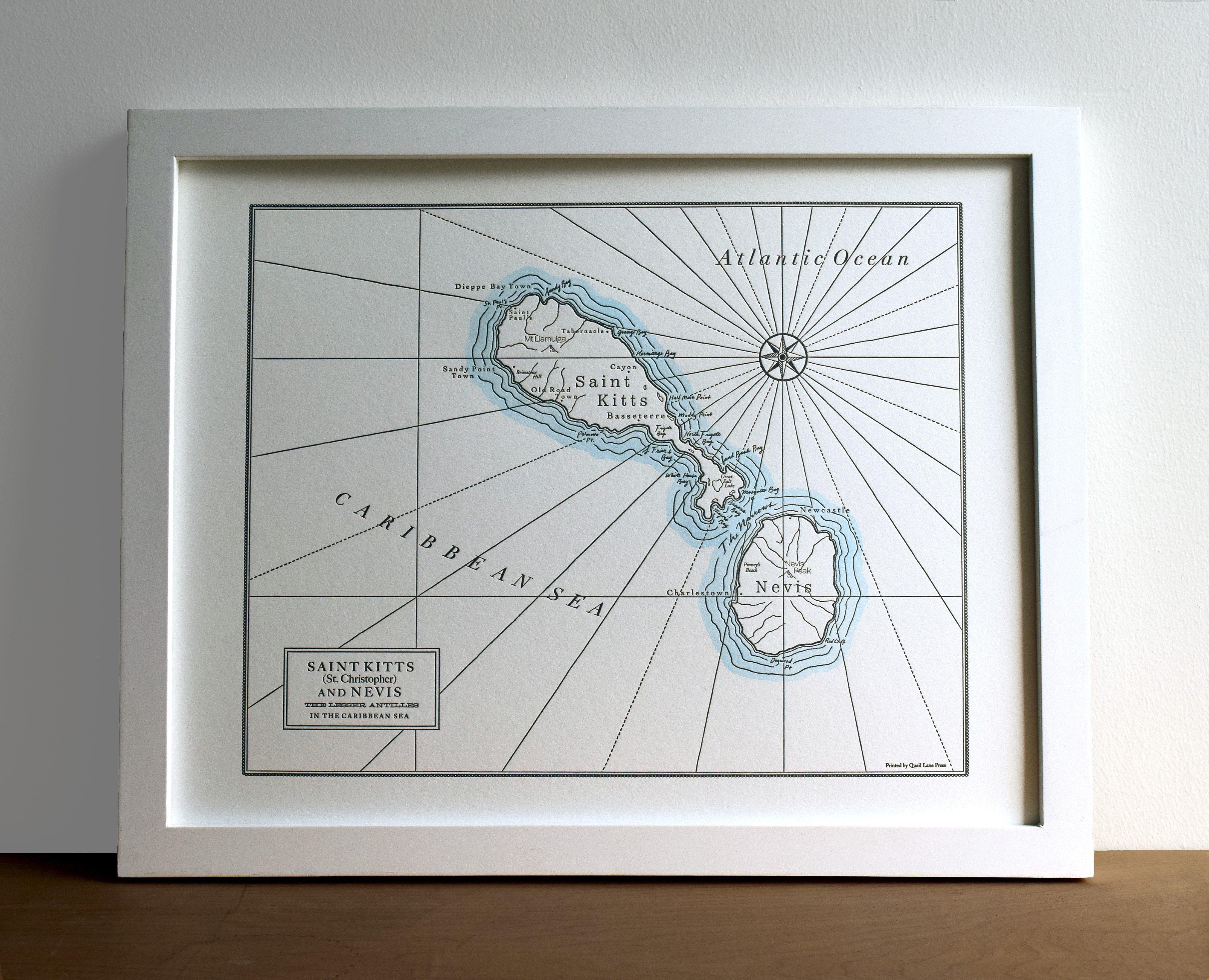 Imagini pentru saint kitts island map