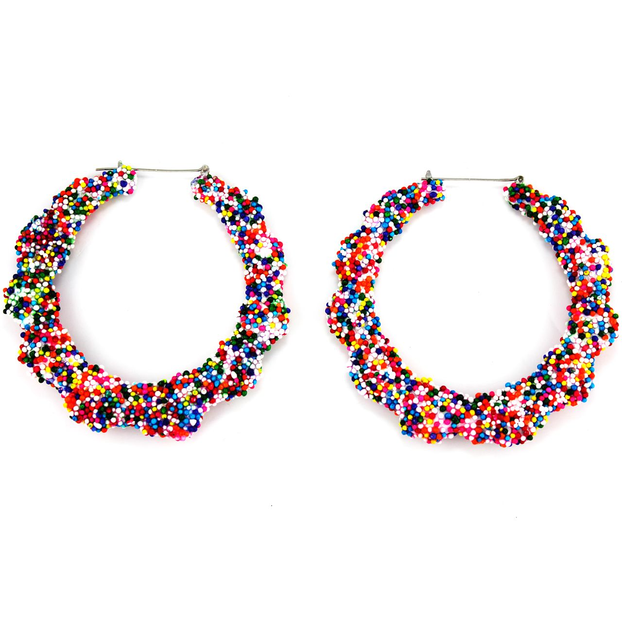 "Candy"" Multicolor Bamboo Earrings"