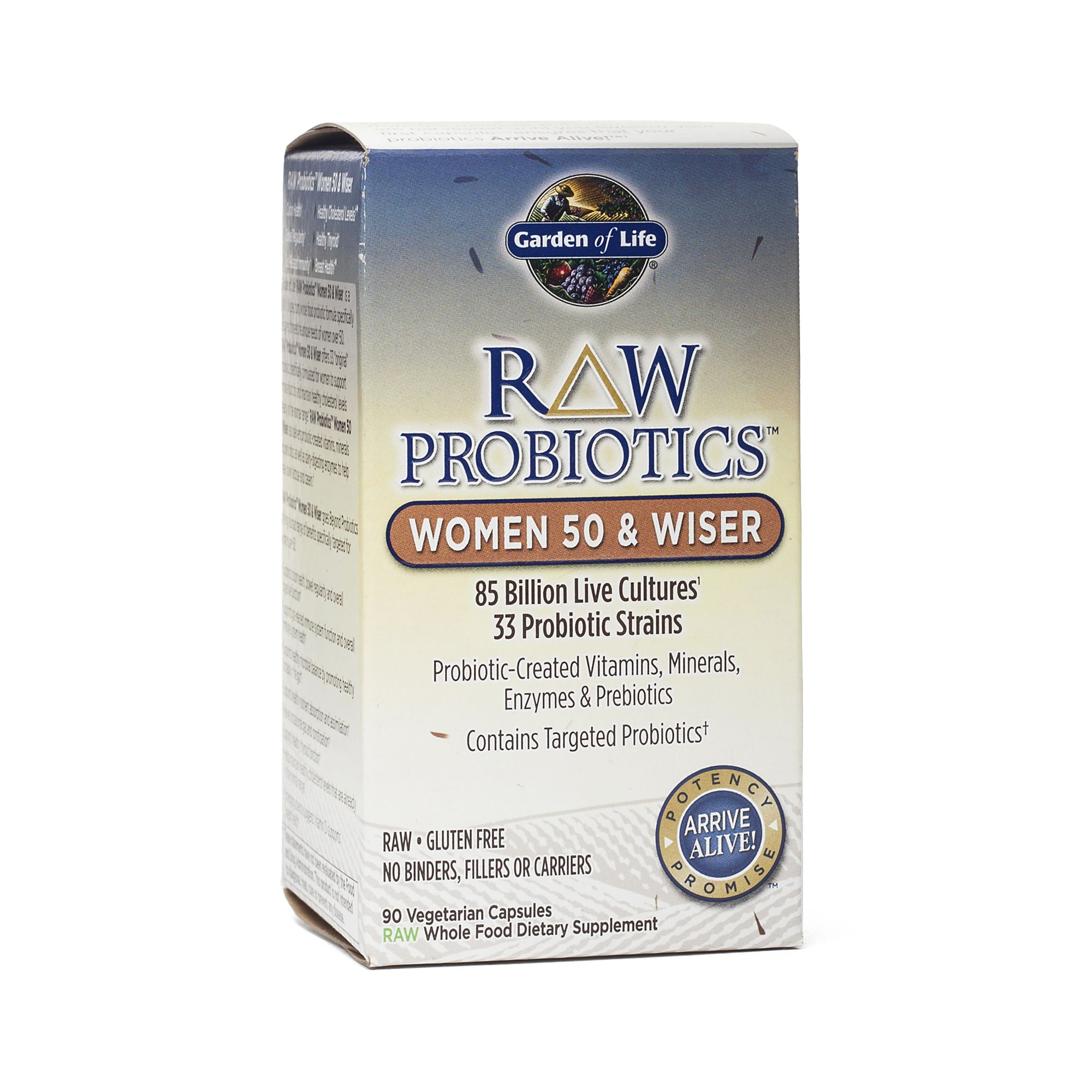 Garden Of Life Raw Enzymes Women 50 Wiser Digestive Function Colon Health Vitamins