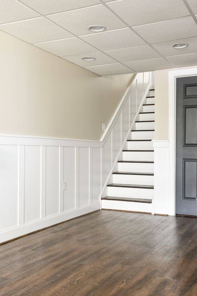 do it yourself beautiful staircase board and batten decorating ideas basement doors. Black Bedroom Furniture Sets. Home Design Ideas