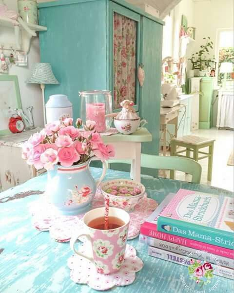 """Pastel Coloured Kitchen Accessories: Shabby Goodness """"BIG THANK YOU To All The"""